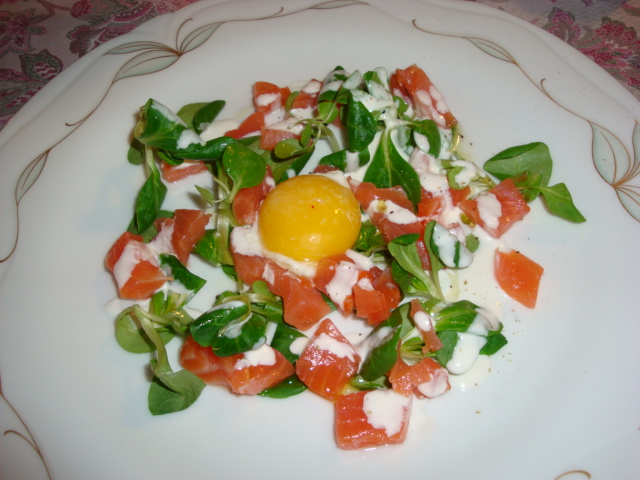 insalata di filetto di salmone Balik