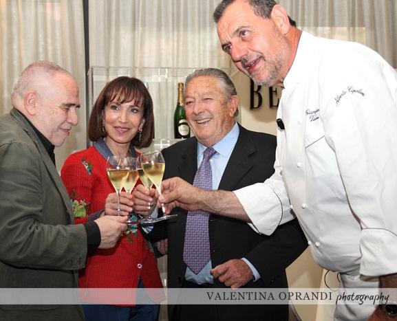 Decio Carugati,Fiammetta Fadda,Franco Ziliani e Gianfranco Vissani