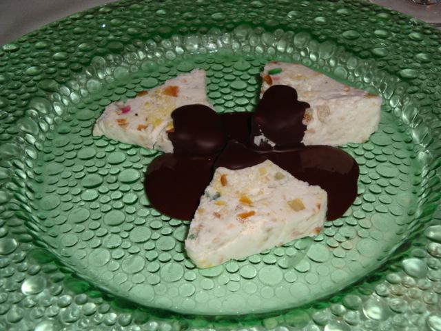 semifreddo alla cassata siciliana con cioccolato fondente al 70% di cacao