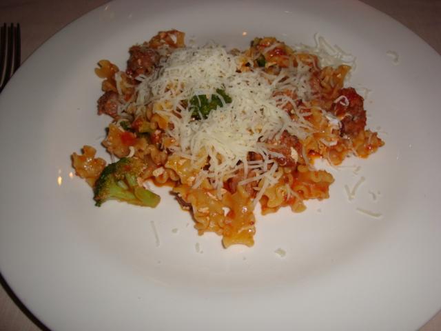 tacozzette di Gragnano con salsiccia, broccoli, acciuga e ricotta salata