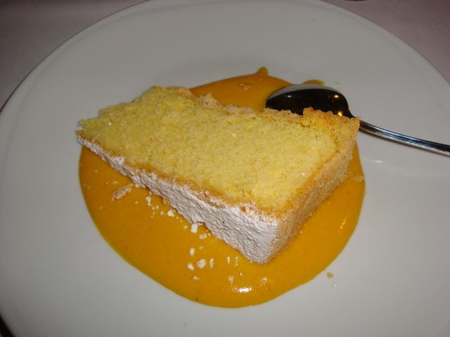 torta paradiso con crema di zabaione