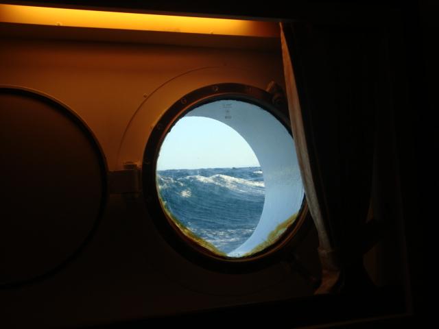 il mare dall'oblò della cabina 106 dello Star Clipper
