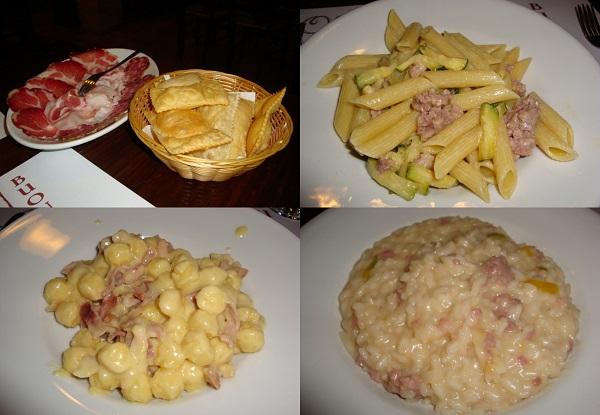 i piatti dell'Osteria La Pergola