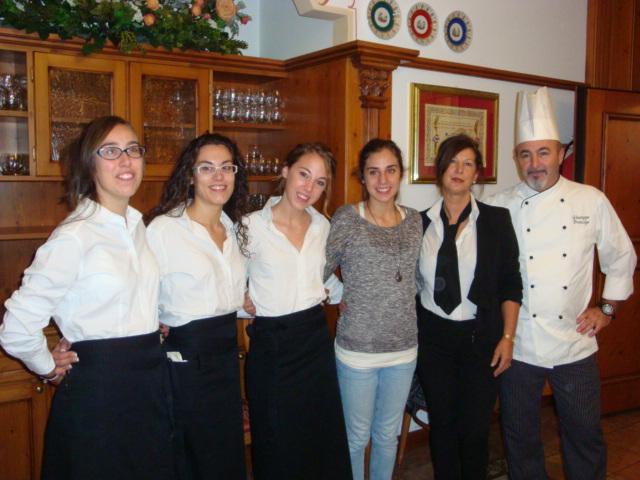 lo staff del ristorante Da Pino