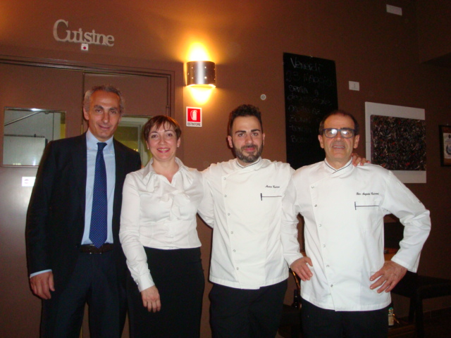Stefano Silenzi e lo staff de La Gramola