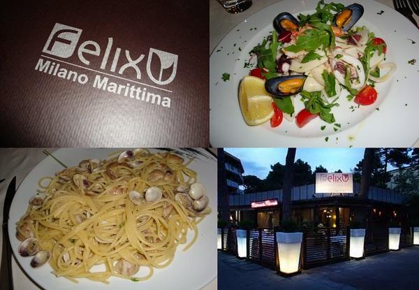 i piatti di Felix Milano Marittima