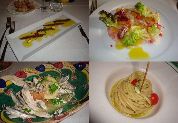 piatti dell'AcquaPazza Cetara