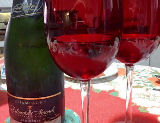 champagne Delouvin Nowack & red glasses