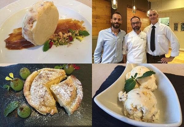 dessert dello chef Mauricio Acosta del Luce Gargantini