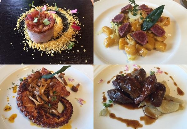 piatti dello chef Mauricio Acosta del Luce Gargantini