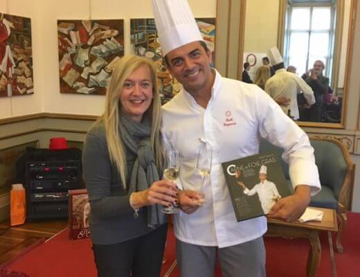 Isabella Radaelli e lo chef Paolo Cappuccio