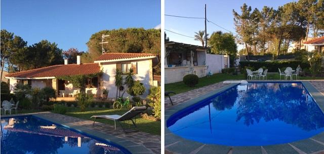 il giardino e la piscina del B&B Romangia
