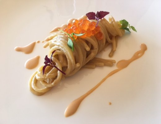 spaghetti ai ricci di mare dello chef Michele Iaconeta