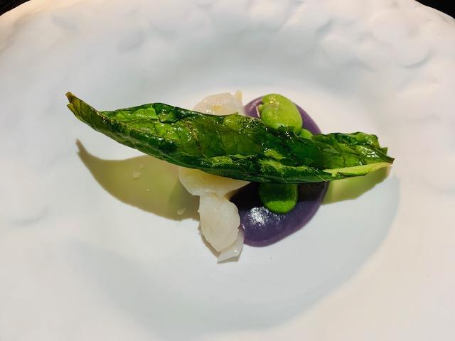 capasanta. bergamotto, fave e patata viola - Photo Credits @isabellaradaelli