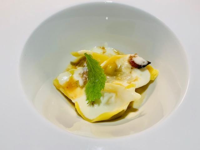 ravioli ripieni di ragù alla genovese, Salva Cremasco DOP e mostarda di zucca - Photo Credits @isabellaradaelli