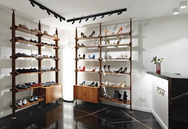 le scarpe in esposizione