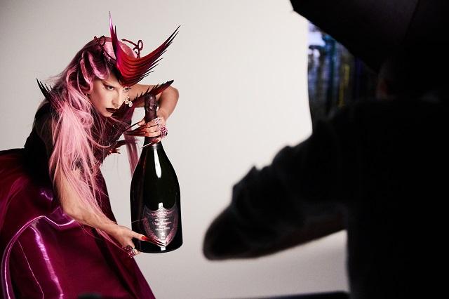 Lady Gaga on set