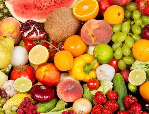 mix frutta e verdura