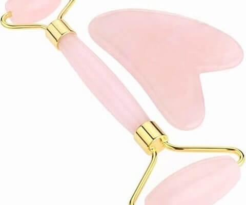 rose quartz roller Gua Sha