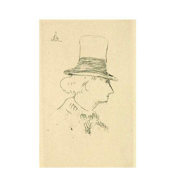schizzo di Baudelaire fatto da Eduard Manet