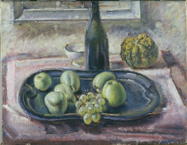 1935_Natura morta con mele e zucca