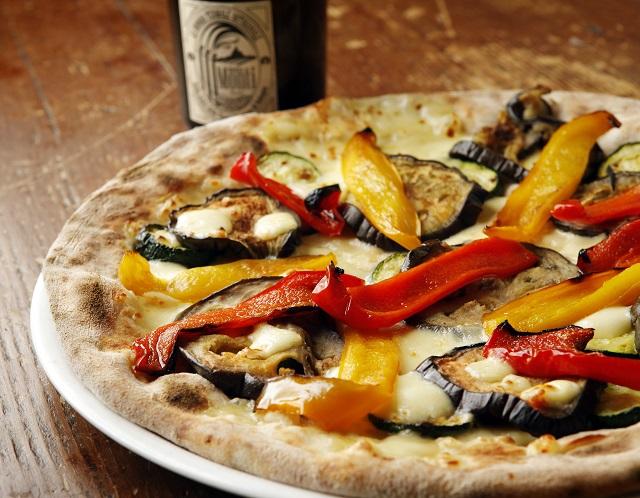 pizza con acqua termale